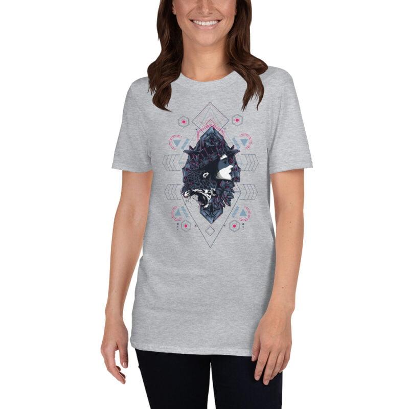 Cheetah Queen and Lotus Sacred Art Unisex T-Shirt 9