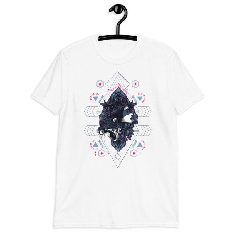 Cheetah Queen and Lotus Sacred Art Unisex T-Shirt 5