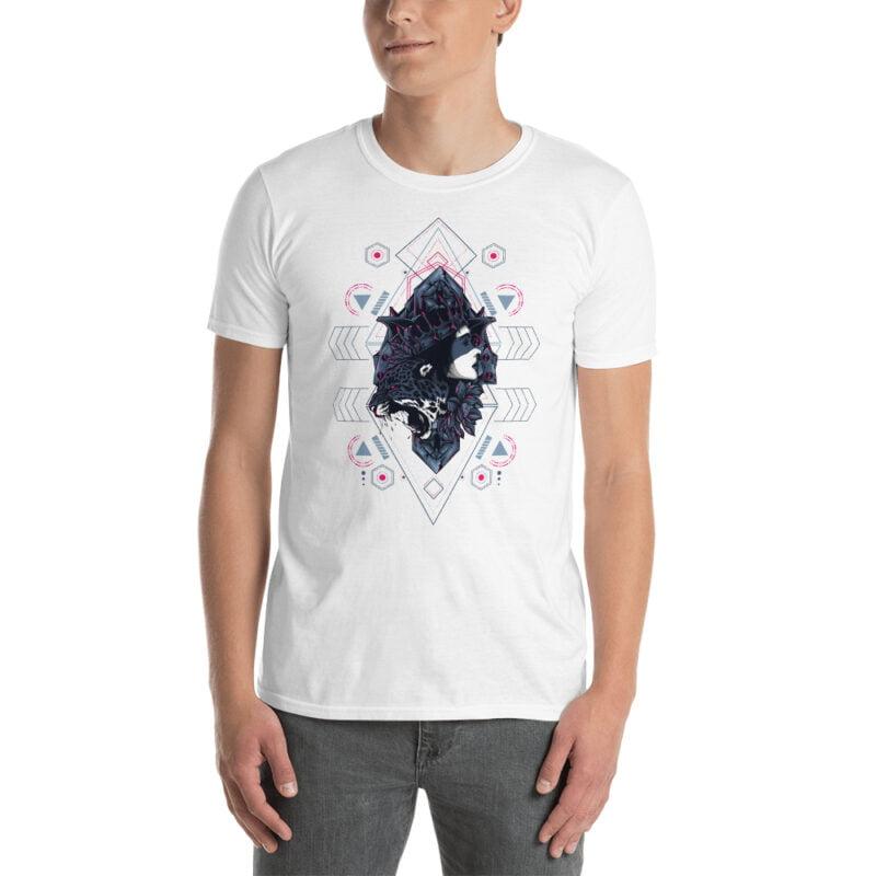 Cheetah Queen and Lotus Sacred Art Unisex T-Shirt 8