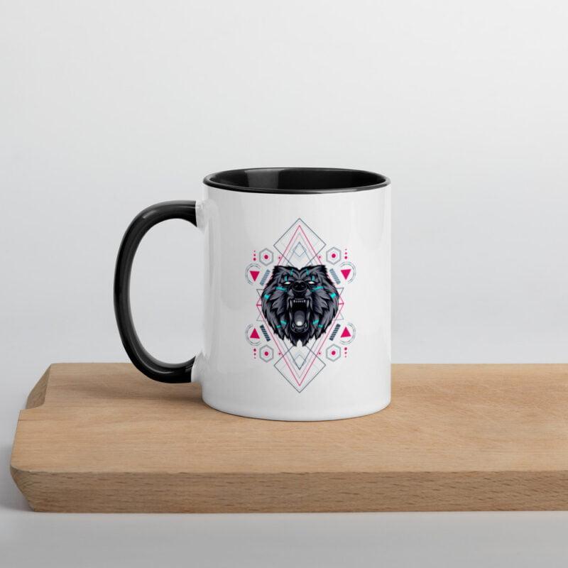 Bear Geometry Design Mug with Color Inside 1