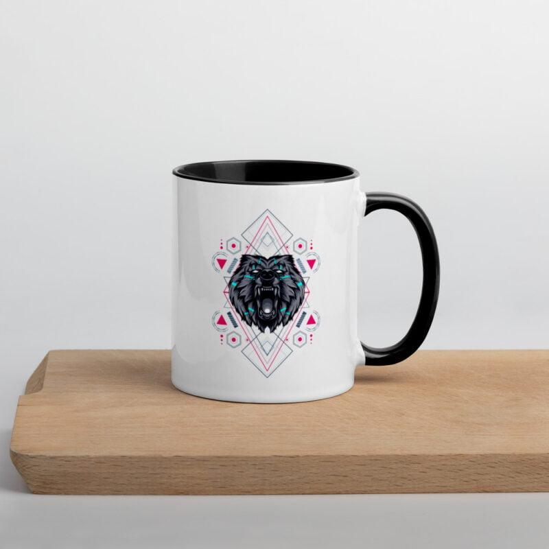 Bear Geometry Design Mug with Color Inside 2