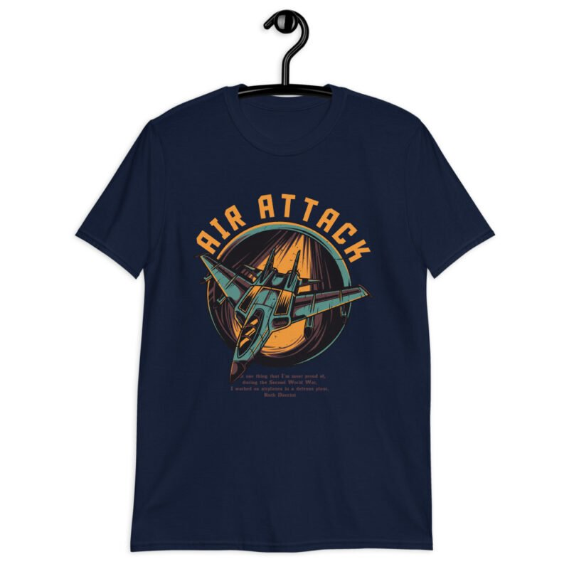 Air Attack Short-Sleeve Unisex T-Shirt navy