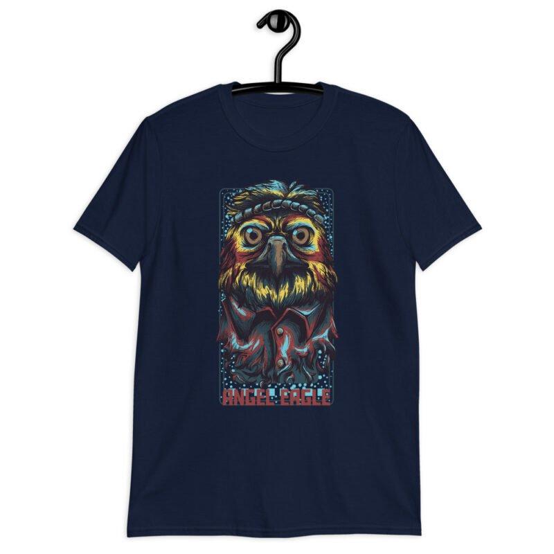 Angel Eagle Short-Sleeve Unisex T-Shirt navy