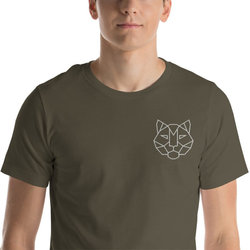 Tiger Embroidered Short-Sleeve Unisex T-Shirt 1