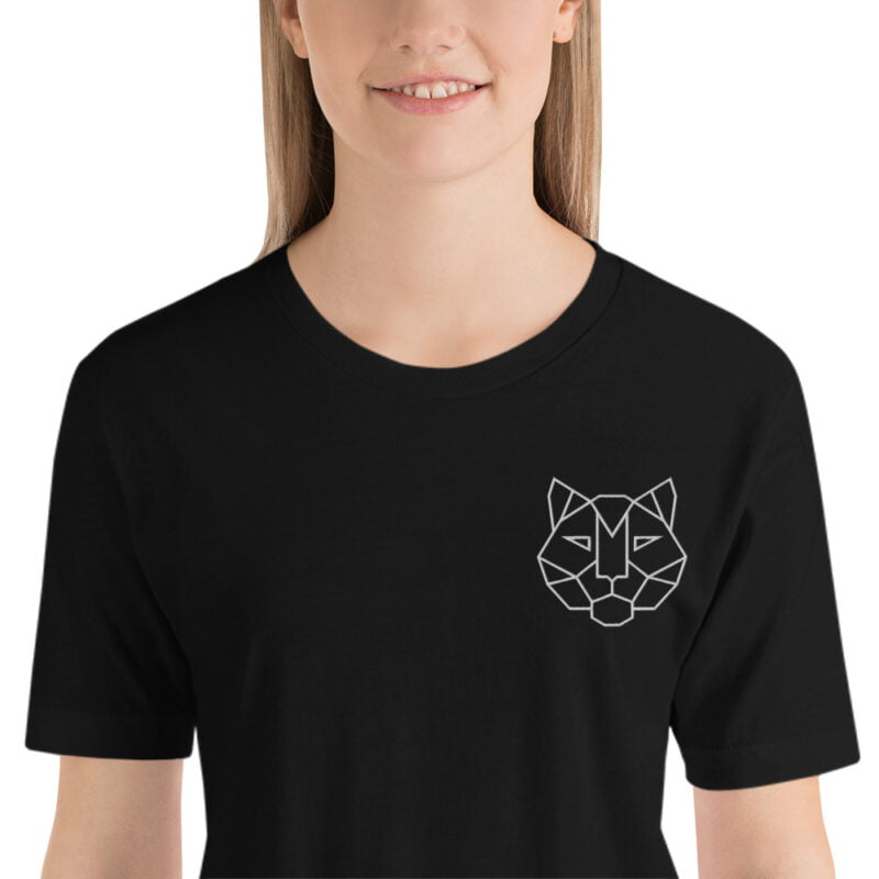 Tiger Embroidered Short-Sleeve Unisex T-Shirt 3
