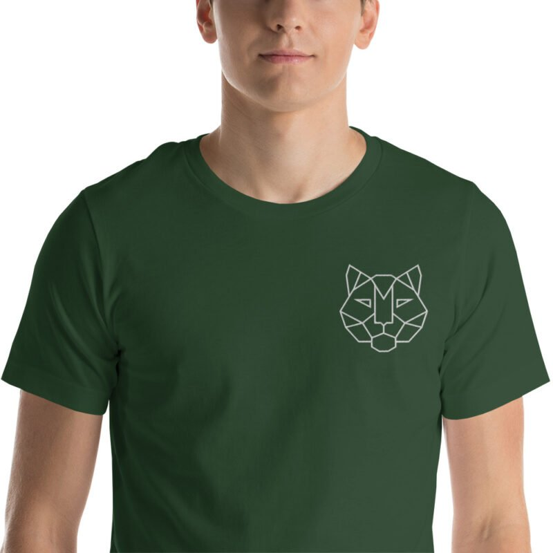 Tiger Embroidered Short-Sleeve Unisex T-Shirt 9