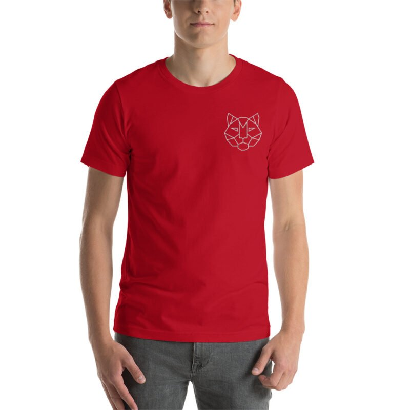 Tiger Embroidered Short-Sleeve Unisex T-Shirt 8