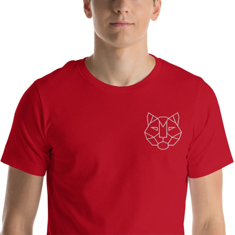 Tiger Embroidered Short-Sleeve Unisex T-Shirt 7