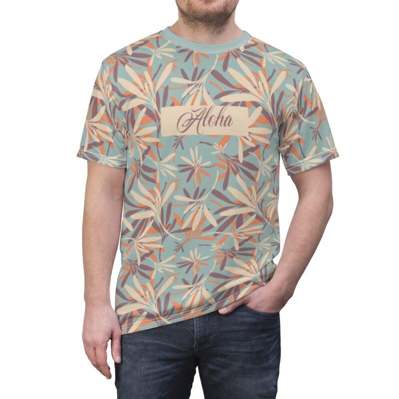 Aloha Floral Unisex Cut & Sew T-shirt 1