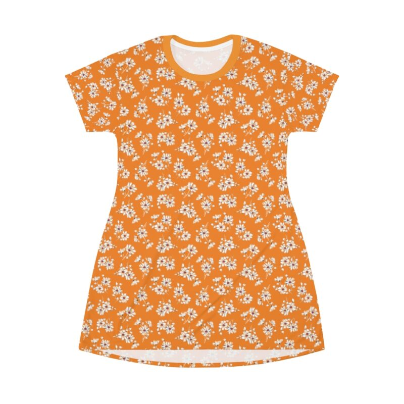 Mustard Ditsy Floral Shift Dress For Women 3