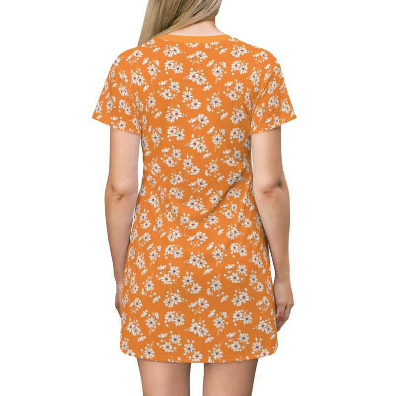 Mustard Ditsy Floral Shift Dress For Women 2