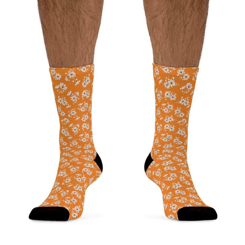 Mustard Ditsy Floral Socks 3