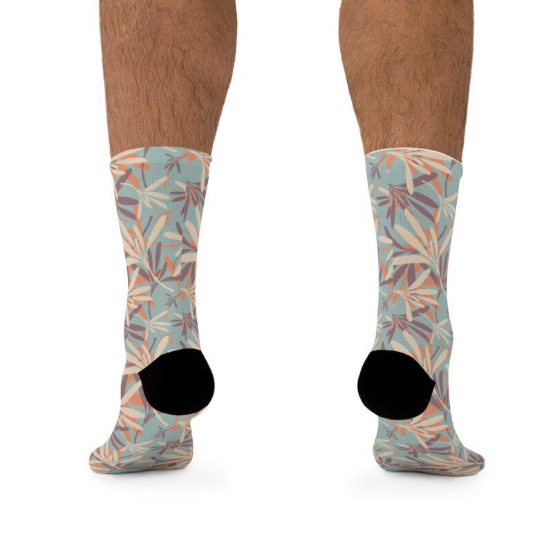 Floral Grey DTG Socks 4