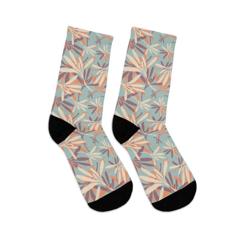 Floral Grey DTG Socks 5