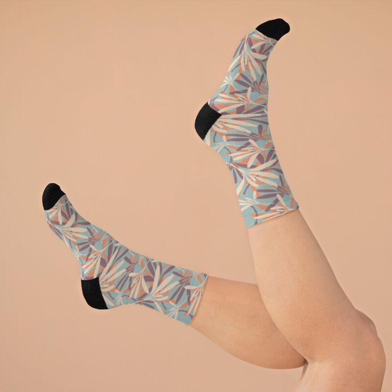 Floral Grey DTG Socks 8