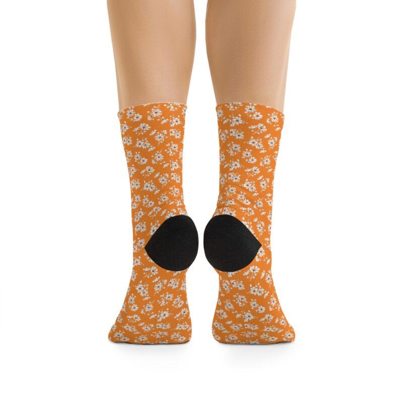 Mustard Ditsy Floral Socks 2
