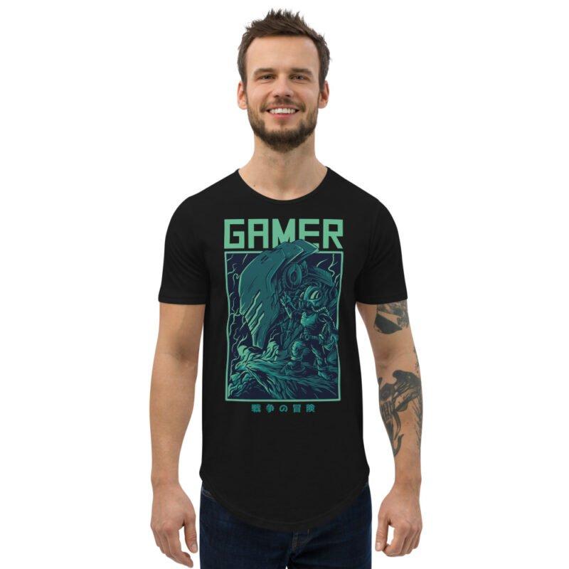 Gamer Men's Curved Hem T-Shirt 2