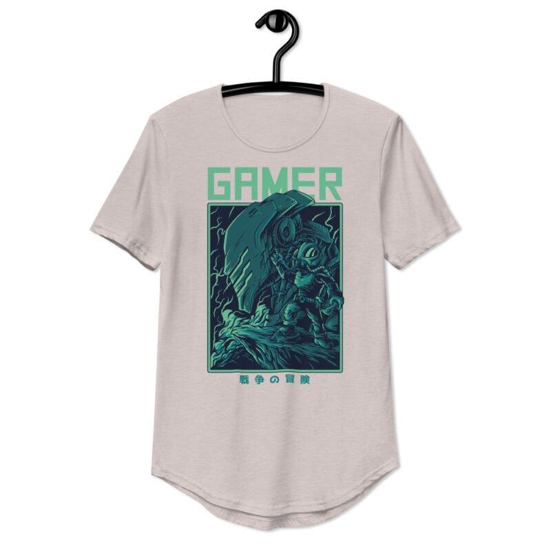 Gamer Men's Curved Hem T-Shirt 3