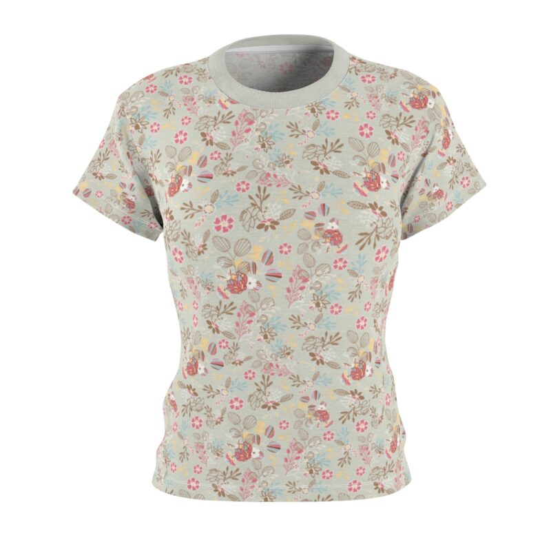 Feta Floral Women's All Over Print Tee 2