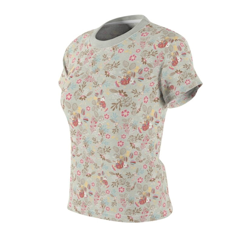 Feta Floral Women's All Over Print Tee 4