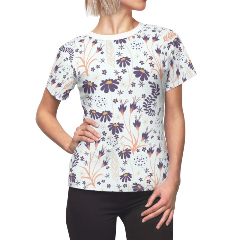 Chamomile White Floral Women's All Over Print Tee 1