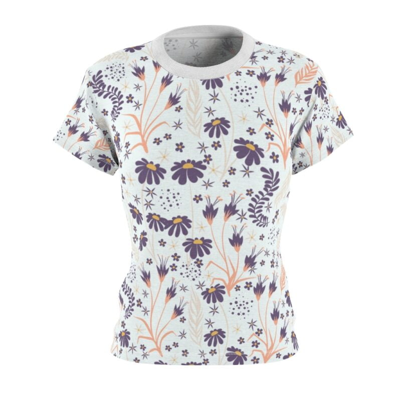 Chamomile White Floral Women's All Over Print Tee 2