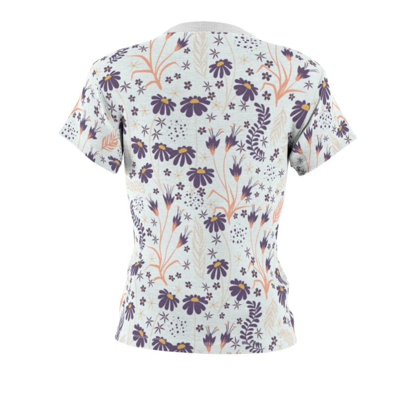 Chamomile White Floral Women's All Over Print Tee 3