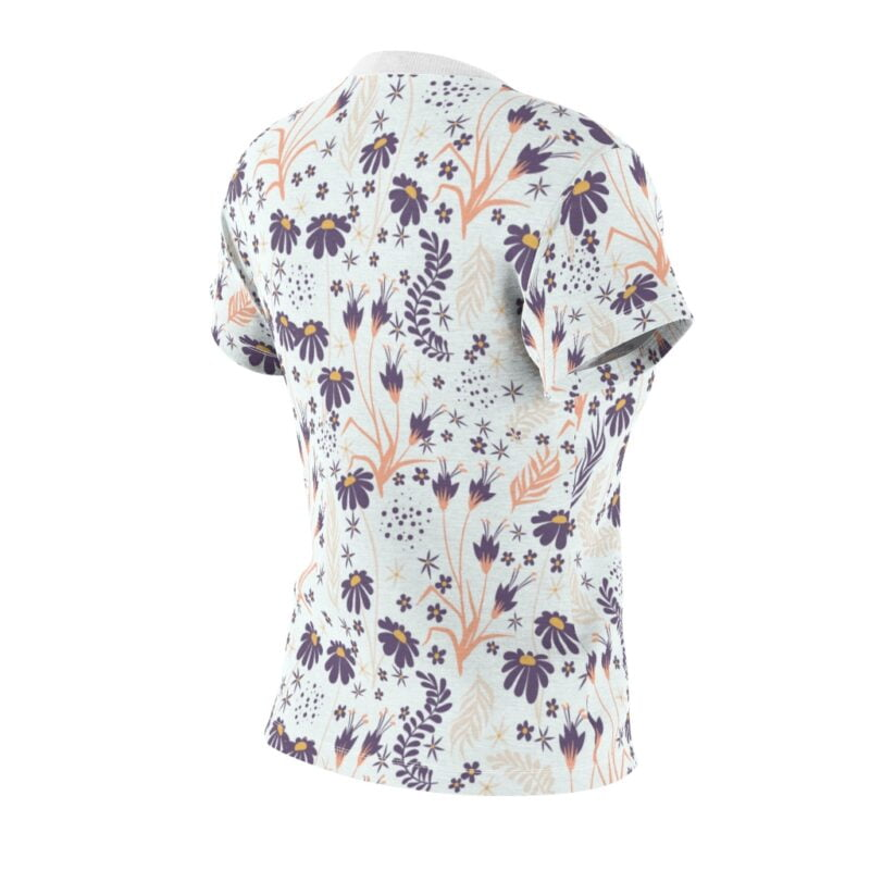 Chamomile White Floral Women's All Over Print Tee 5