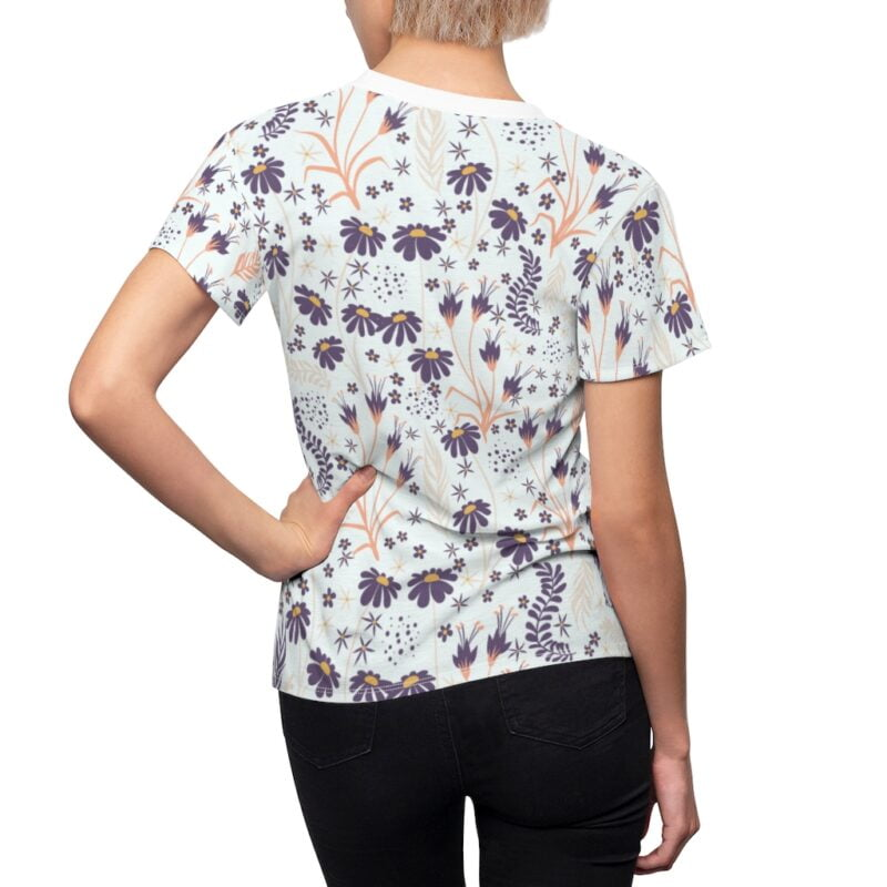 Chamomile White Floral Women's All Over Print Tee 6