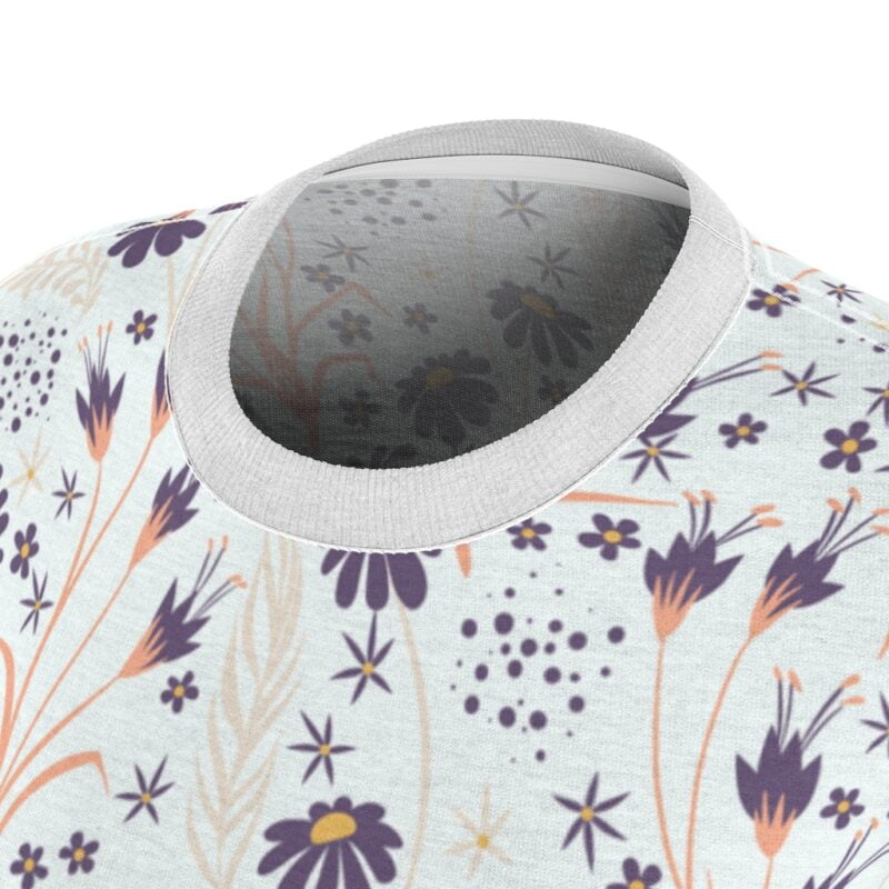 Chamomile White Floral Women's All Over Print Tee 7